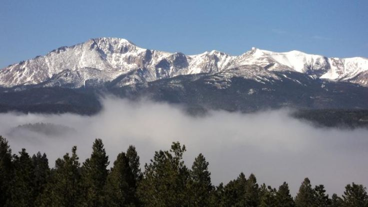 Pikes Peak, Woodland Park, CO. This was the view from our front porch.