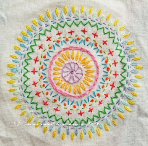 Cross stitch mandala