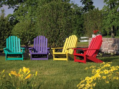 Adirondack Chairs in happy colors #BHGSummer