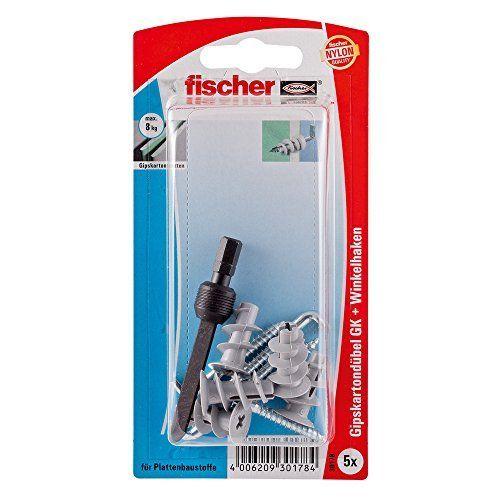 Fischer 30178 Lot de 5 Chevilles à visser pour plaque de plâtre GK WH K: Price:7.74 La cheville pour carton plâtre GK convient pour le…