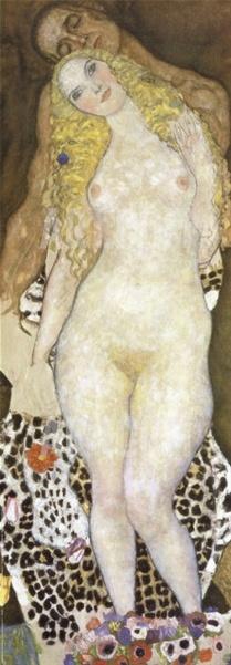Adam and Eve Print by Gustav Klimt at Art.co.uk