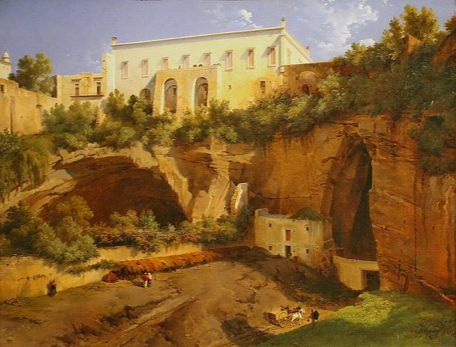 View of a Villa, Pizzofalcone, Naples by Lancelot-Théodore Turpin de Crissé