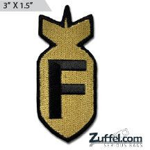 F Bomb Morale Patch - Express your individuality with our collection of Morale Patches, Embroidered Patches, Velcro Morale Patches, Tactical Morale Patches, Military Morale Patches, and Humorous Morale Patches! Put them on all of your gear: Hats, Jacket, Fleece, Vests, and Backpacks! Get it at http://zuffel.com/collections/morale-patches/products/f-bomb-morale-patch