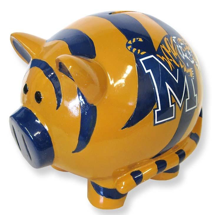 Memphis Tigers Piggy Bank for Team Spirit!