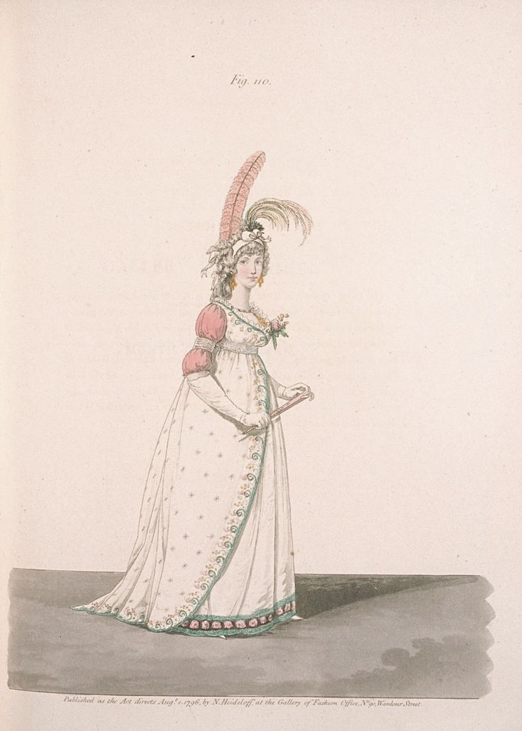 Heideloff's Gallery of Fashion Aug 1796. Fig. 110