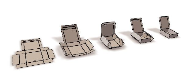 """La Caja. título """"Diseño del Packaging – Expositor de una colección de calzado femenino"""""""