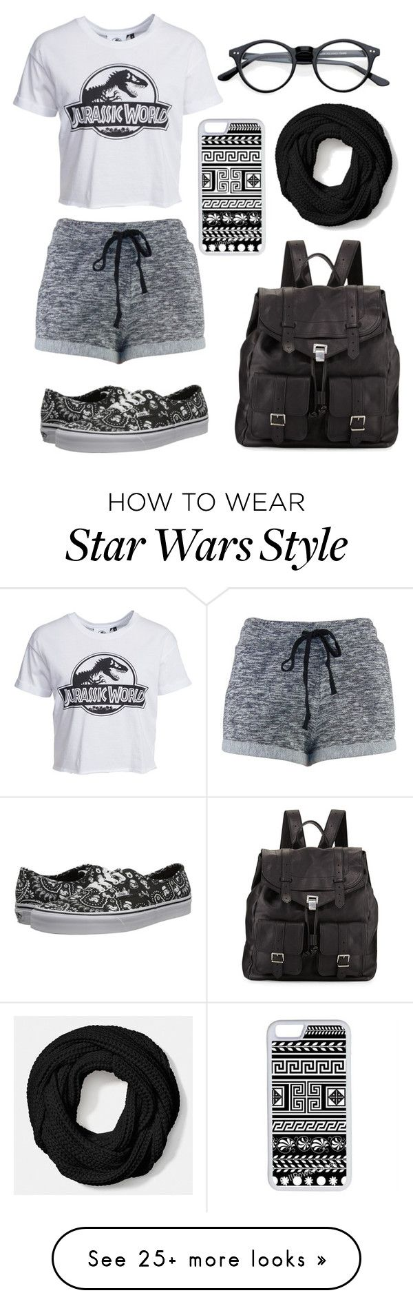 """Expressing my feelings for Jurassic World"" by ladylegolas on Polyvore featuring New Look, Vans, Proenza Schouler, CellPowerCases and Coach"