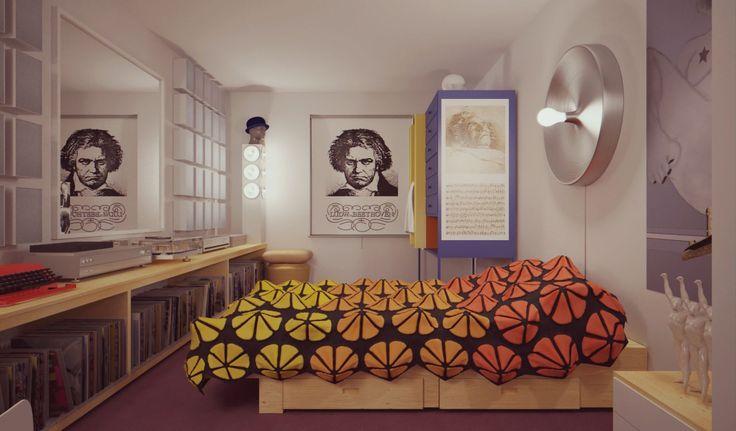 Alex's bedroom.  A Clockwork Orange. Stanley Kubrick. 1971 ::: I'd Love To Turn You On : Photo