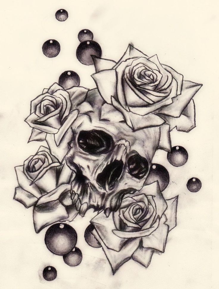 Skull and roses by Slabzzz on deviantART