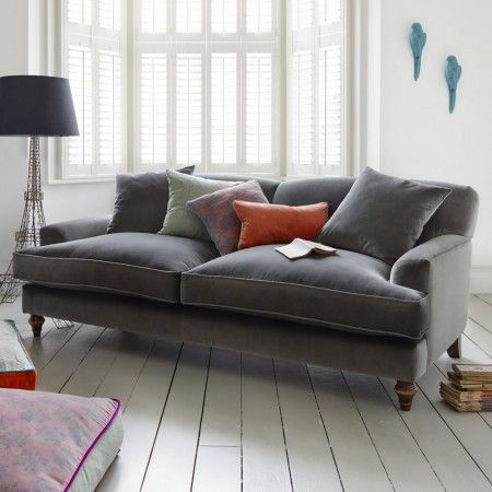 Clio Sofa Collection in Velvet - Not sure your views on velvet with the boys?  It does come in various fabrics and colours