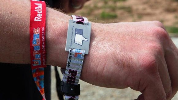 RFID bands are also being used for posting to social media