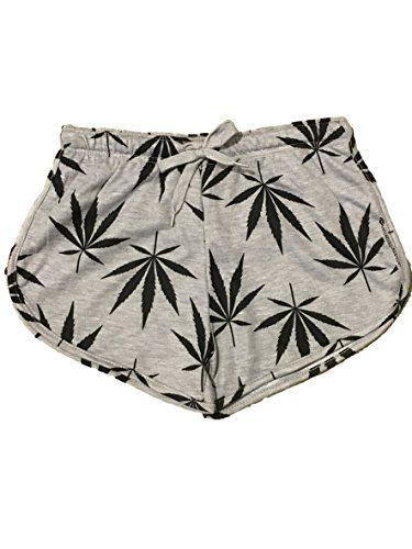 100% poly Imported model is wearing a size small and true to size very trendy weed print short elastic waist and tie up style /machine wash cold water great for a day at the beach small:(waist) 24~26 med:27~29 large:30~32 x-large:33~35 inch : BUY HERE http://amzn.to/1rsh0Ap