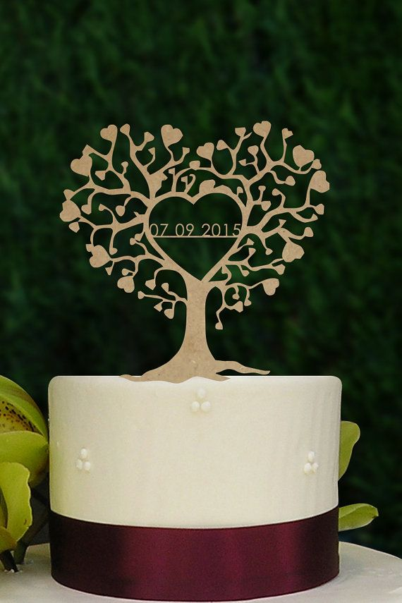 Rustic Tree with wedding date topper