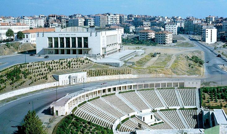"""Bir İstanbul hayali on Twitter: """"Spor Sergi Sarayı ve Açıkhava Tiyatrosu (~1960) #şişli #istanbul https://t.co/75WqQmmWnN"""""""