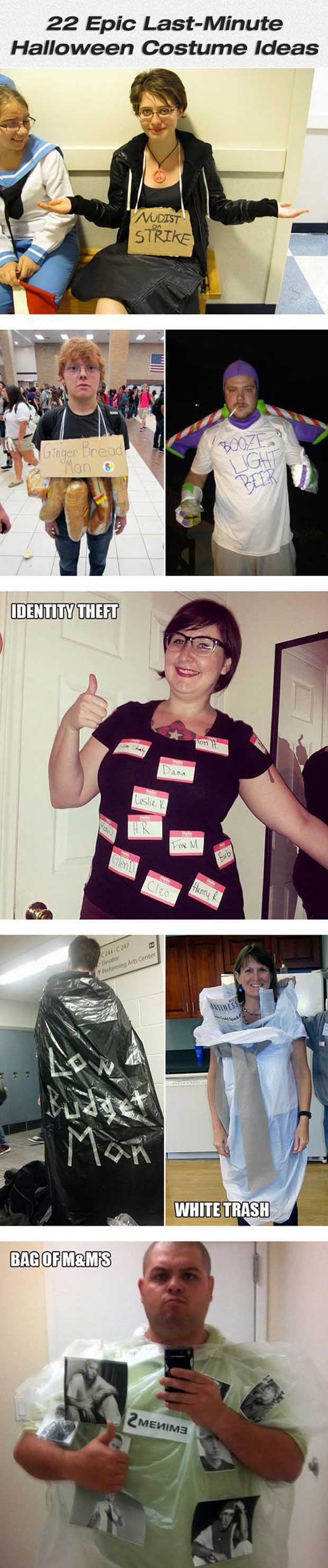 Epic Last Minute Halloween Costume Ideas For Lazy People - 22 Pics