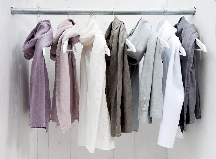 MrsBLOOM Springcollection 2013 Vintage Linen Shawl (violet, old pink, off white, olive grey, old blue, pure white, dark grey 45x180)