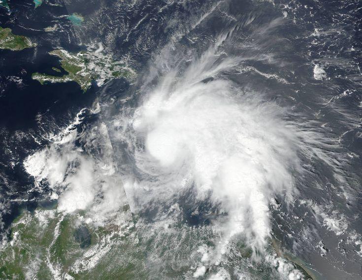 On Sept. 29, 2016, at 1 p.m. EDT (17:00 UTC) NASA-NOAA's Suomi NPP satellite captured this visible image of then-Tropical Storm Matthew in the Caribbean Sea. Credits: NOAA/NASA Goddard MODIS Rapid Response Team
