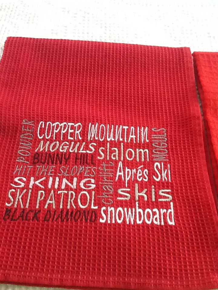 Dish towel made for Copper Mountain, CO