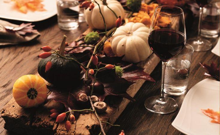 Jesienna dekoracja stołu.Fot. Fyrklövern
