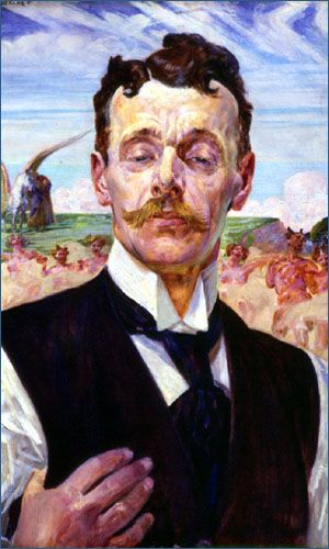 Jacek Malczewski - Portrait of a man 1913