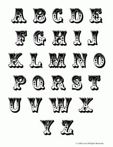 circus letters set 231x300 Printable Bubble Letters
