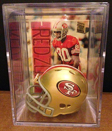 San Francisco 49ers NFL Helmet Shadowbox w Jerry Rice card >>> Visit the image link more details.