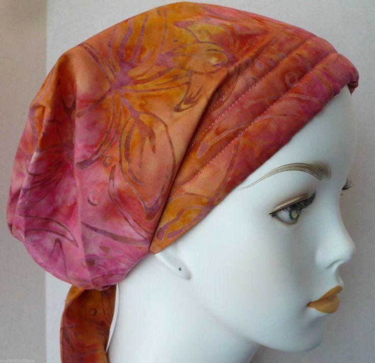 16.95$  Watch now - http://vibtk.justgood.pw/vig/item.php?t=0r6rlls45210 - Batik Cancer Chemo Alopecia Hair Loss Scarf Turban Head Wrap Bad Hair Day Hat 16.95$