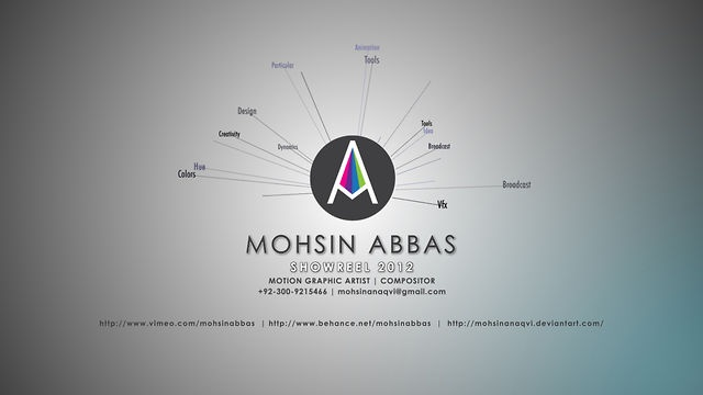 MOTION GRAPHICS REEL 2012 by Mohsin Abbas. Mohsin Abbas