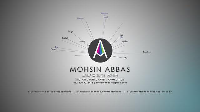 MOTION GRAPHICS REEL 2012 by Mohsin Abbas. Mohsin Abbas