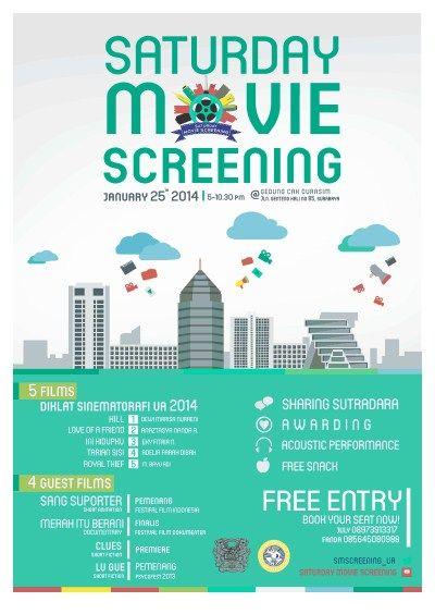 YUK MERAPAT DAN DATANG ke @SMScreening_UA present by @sinematografiUA , Free Entry DIJAMIN GAK RUGI DEH GUYS !