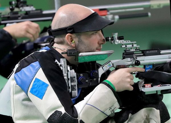 Niccolo Campriani Photos Photos - Niccolo Campriani of Italy competes in the 50m rifle three position event on Day 9 of the Rio 2016 Olympic Games at the Olympic Shooting Centre on August 14, 2016 in Rio de Janeiro, Brazil. - Shooting - Olympics: Day 9