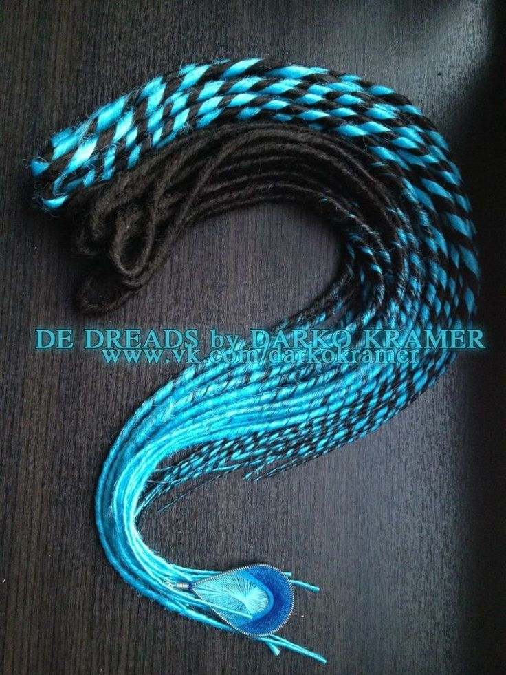 FULL SET black blue SYNTHETIC DREADLOCKS DOUBLE ENDED DREAD 40 inches BASILISK in Clothing, Shoes & Accessories, Women's Accessories, Wigs, Extensions & Supplies | eBay