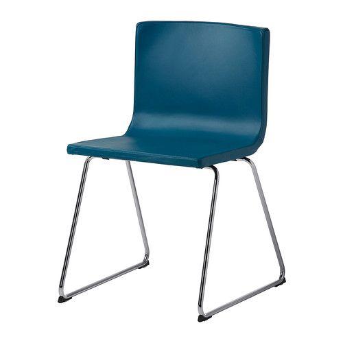BERNHARD Krzesło IKEA Ze sprężystym siedziskiem; zapewnia dodatkowy komfort. Miękkie siedzisko i opracie dla większej wygody podczas siedzenia