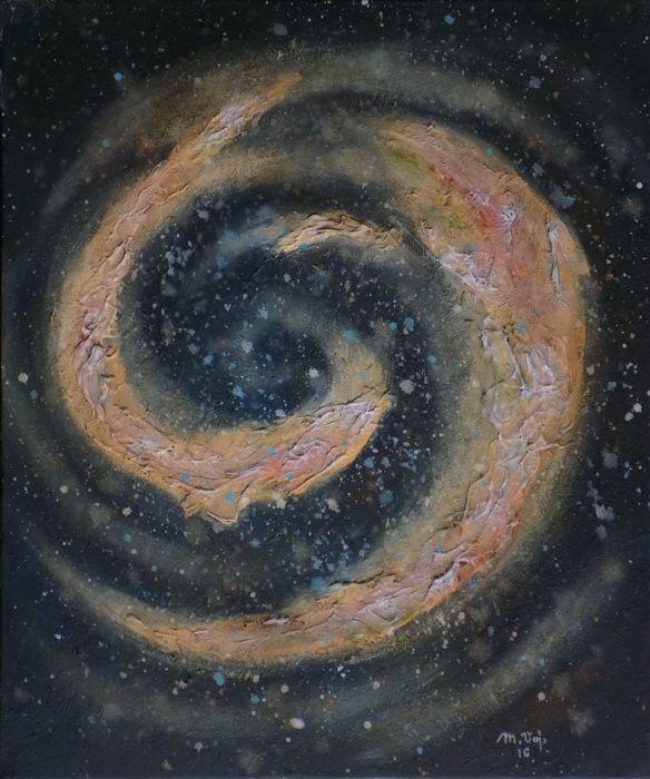 Spirála (Spiral) Acrylic on canvas, 50x60cm, © Mirek Vojáček