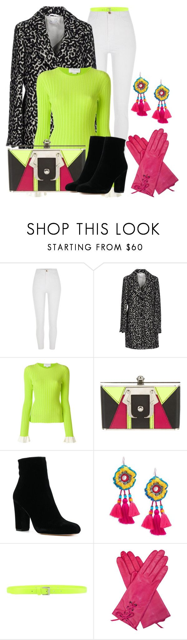 """January Pop of Color"" by lchar ❤ liked on Polyvore featuring River Island, St.Emile, Esteban Cortazar, Paula Cademartori, Panacea and P.A.R.O.S.H."