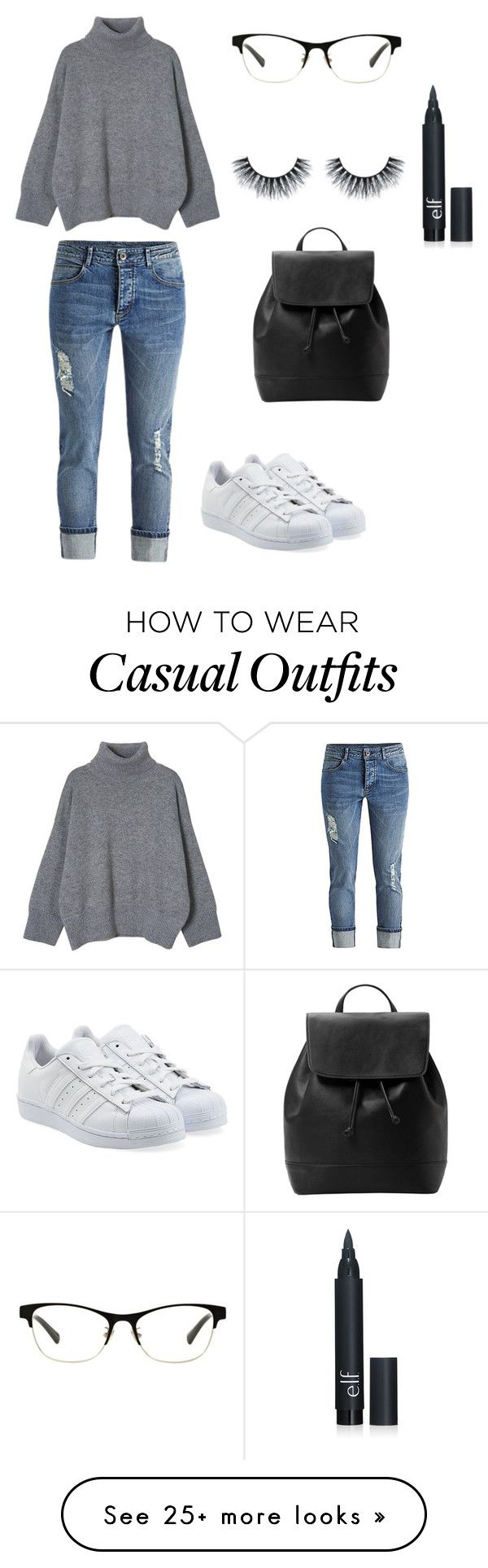 """""""Casual"""" by jenniferatim on Polyvore featuring adidas Originals, Coach, MANGO, women's clothing, women, female, woman, misses and juniors"""