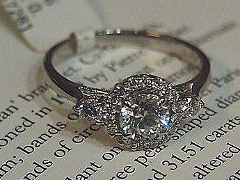 Jewellery-Ring-Designer-18 carat white gold and 0.62 carat plus diamond ring
