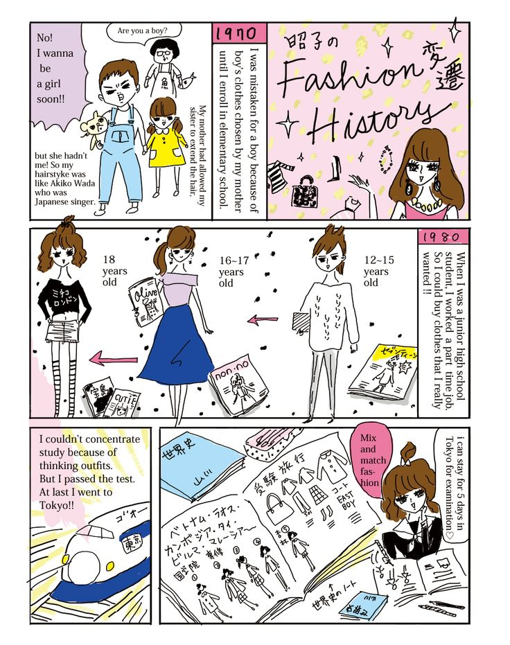 Akiko drew her life history in her book, Fashion Holic Way. Next page will be posted soon!