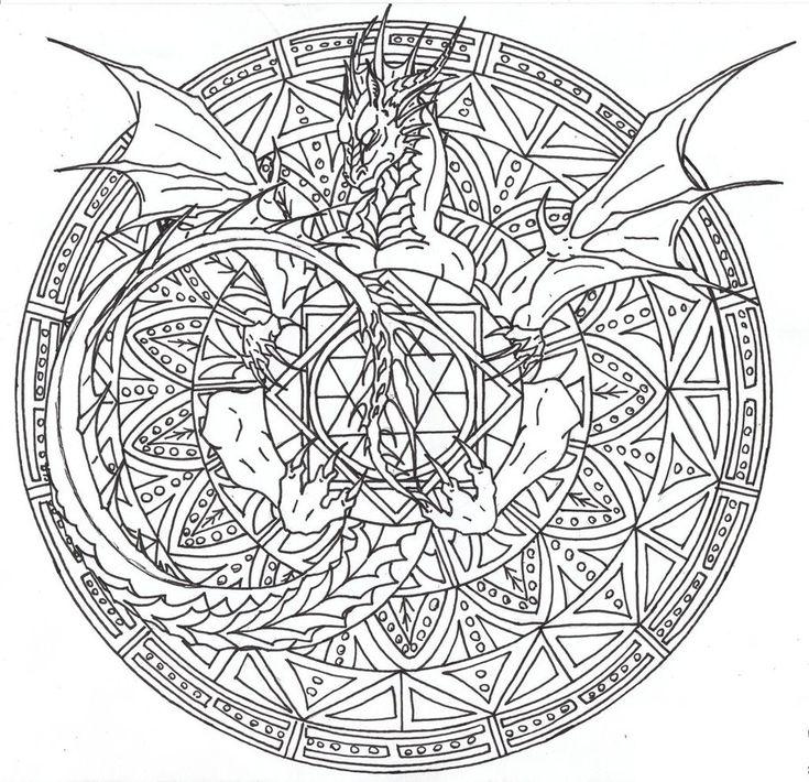 tree mandala coloring pages - photo#4