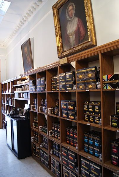 The interior of the Twinings Strand Heritage Shop in London, was purchased by Thomas Twining in 1706. It was then known as Tom's Coffee House. It now houses a shop selling Twinings tea and a heritage museum.