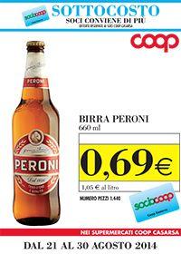 Birra Peroni SOTTOCOSTO per i soci Coop Casarsa clicca