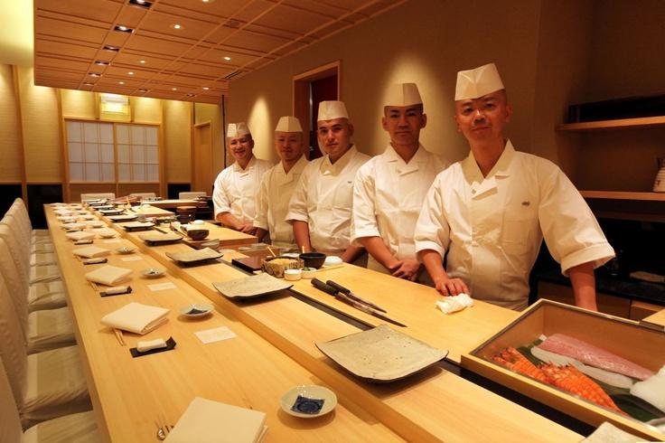 One of the better sushi bars. Shinji at The Raffles Hotel, Singapore.    theworlds50best.com