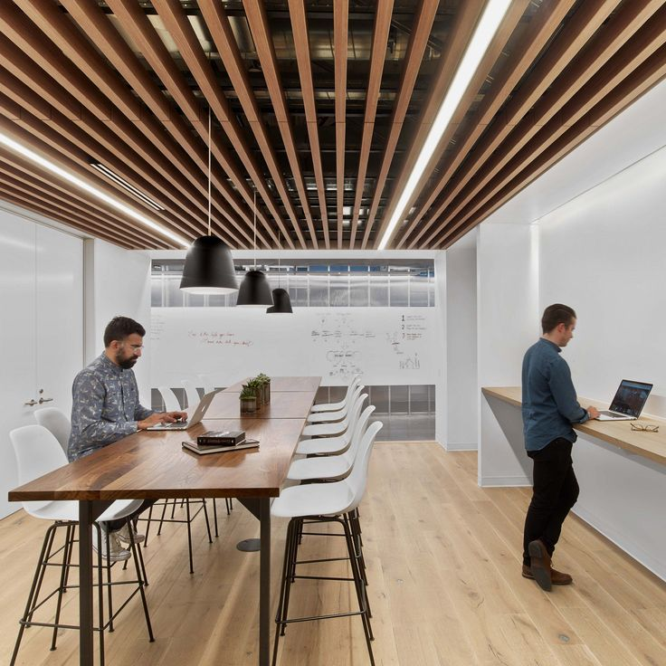The studio set out to create a flexible workspace for HBO, with an aesthetic and material palette influenced by the maritime history of the Pacific Northwest.