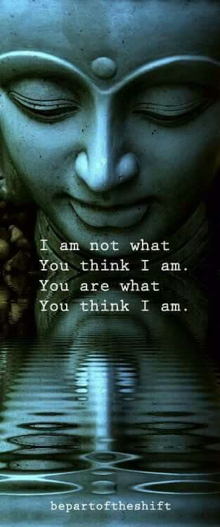 I am not what you think I am....You are what you think I am.