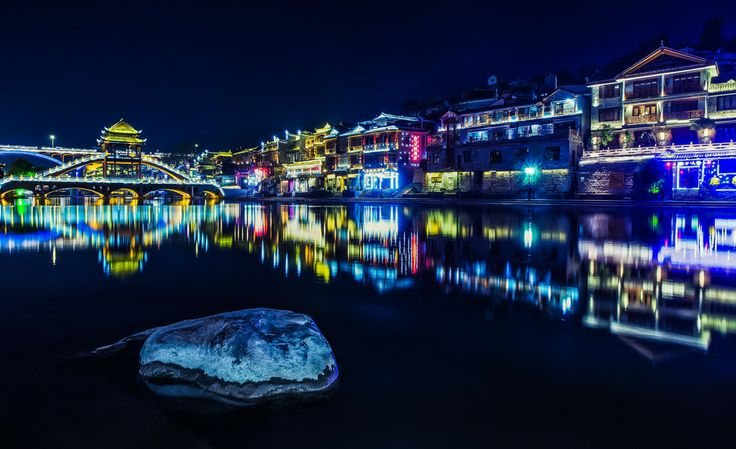 Photo Town at night by qiao liang on 500px
