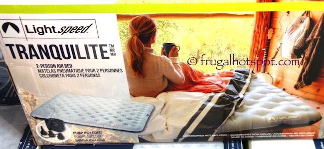 Lightspeed Tranquilite 2-Person Air Bed. #FrugalHotspot #Costco