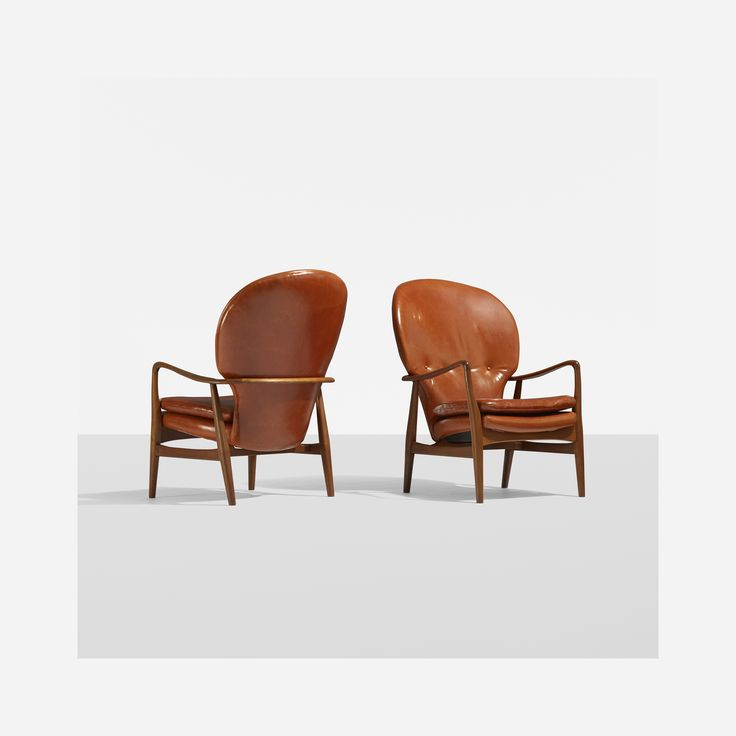 105: Arne Vodder, Attribution / Lounge Chairs, Pair U003c Scandinavian Design,  20
