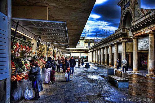 View inside the market, Cadiz, Spain