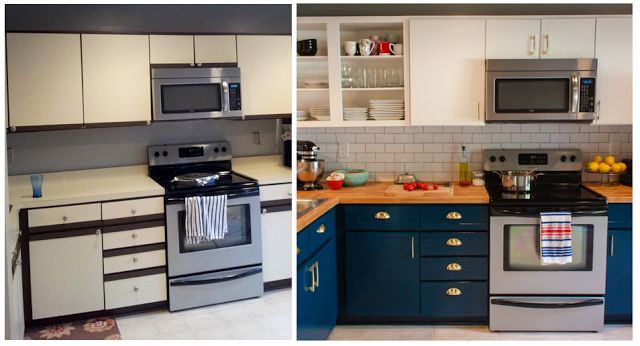 Love this kitchen redo ... painting cabinets can make all the difference sometimes!