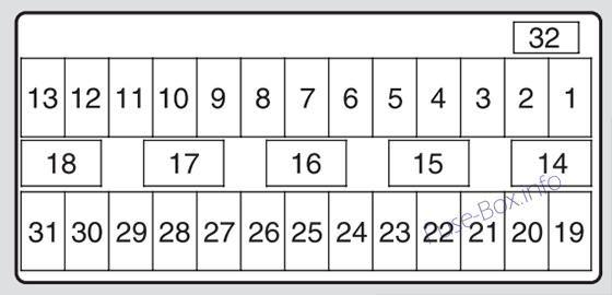 Acura Tsx  Cu2  2009  2010  2011  2012  2013  2014  Fuse Box Diagram